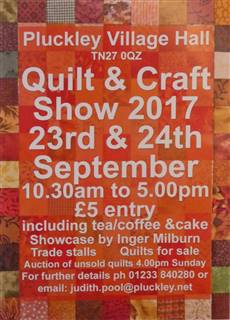 Pluckley village Hall, quilt & craft show.