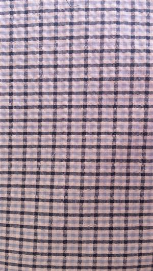 "Navy/Blue Seersucker Check Fabric 56"" wide"