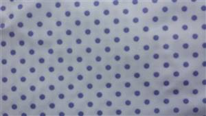 White with Purple  0.5cm Spot Cotton Fabric