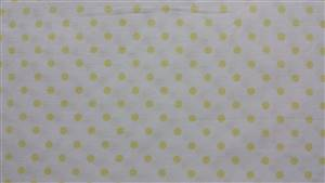 White with 0.5cm Pale Yellow Spot Cotton Fabric