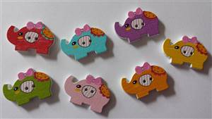 Elephant buttons 20.5 x 30.6mm