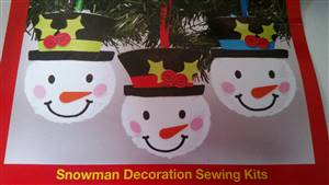 Snowman Decoration Kit