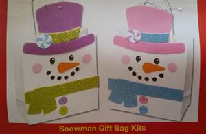 Snowman Gift Bags Decoration Kit