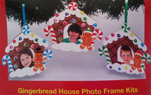 Gingerbread House Photoframe Decoration Kit