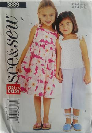 See & Sew 3889 Girls Dress Pattern