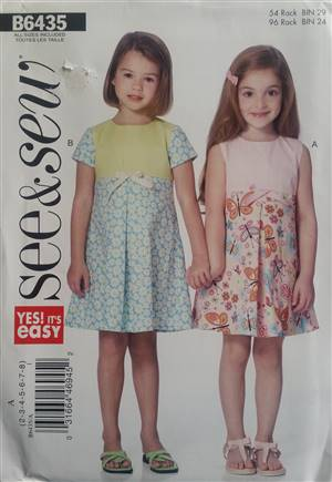 See & Sew B6435 Girls Dress Pattern