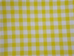 Yellow Large Check Cotton Gingham Fabric