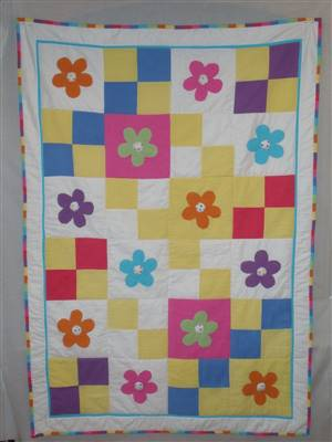 Brights Flower Seersucker Quilt Pattern