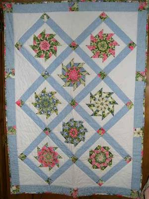 "SALE.43"" x 59"" Kaleidosocpe Quilt Pattern"