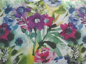 "Dark Floral Fabric  60"" wide"