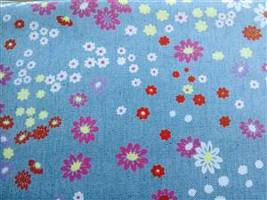 "Light Denim Floral Fabric  57"" wide"
