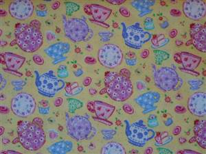 Yellow Cotton + Teapot Fabric