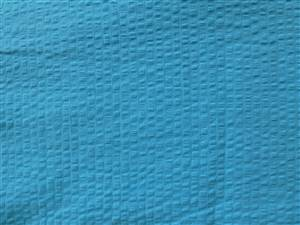 "Turquoise 57"" Wide Hand Dyed Seersucker Cotton Fabric"