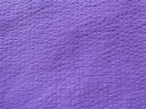 "Purple 57"" Wide Hand Dyed Seersucker Cotton Fabric"