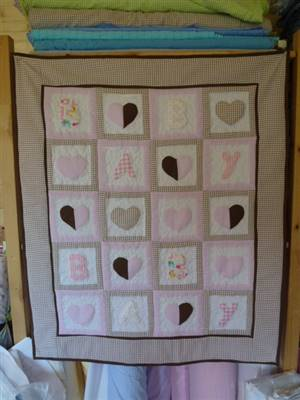 "Heart Applique Throw  36"" x 30.5"" Pattern"