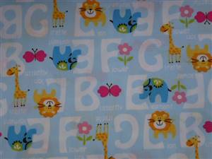 Alphabet Cotton Childrens Fabric