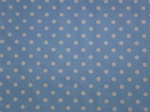 Blue with White 0.5cm Spot Cotton Fabric