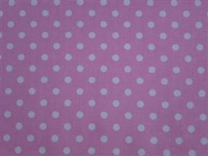 Pink with White 0.5cm Spot Cotton Fabric