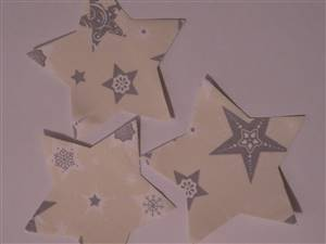 Christmas Stars Pre Cut Applique