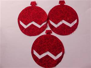 Christmas Bauble Pre Cut Applique