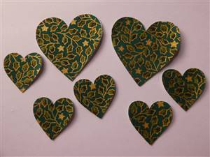 Christmas Heart Pre Cut Applique