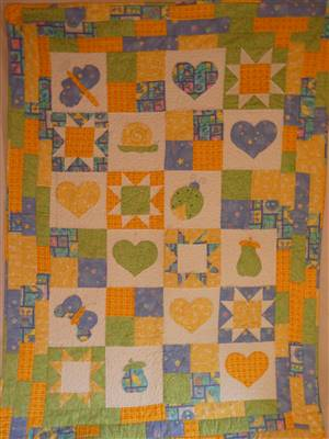 Bright Childrens Quilt Ex sample