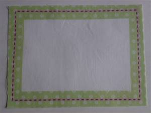 Green Border Quilt label