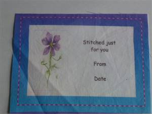 Purple/Blue Quilt Label - stitched just for you