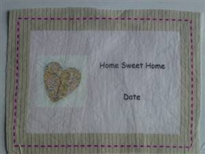 Home sweet Home Cotton Quilt Label