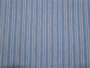 "2.25M Piece Light Blue/ Purple Stripe Cotton Fabric. 44"" wide"
