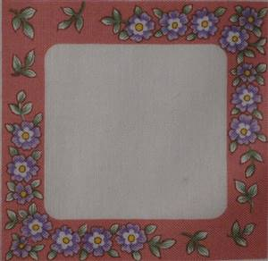 Pink Small Flower Quilt Label.