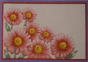 Pink Flower Quilt Label.
