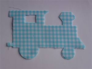 Check Train Pre Cut Applique