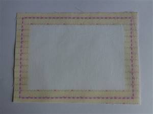Yellow Border Quilt label