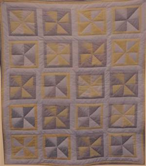 "Grey/Yellow/White Windmill Quilt Kit 38"" x 46"""