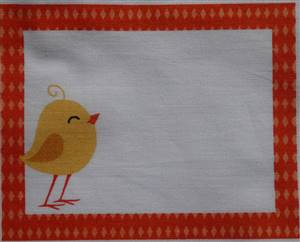 """Yellow Chick Quilt Label 5.5"""" x 3.5"""""""