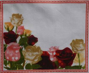 "Bunch Roses Quilt Label 5.5"" x 4.5"""