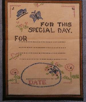 Blue Country Style Border Quilt label. For this special day