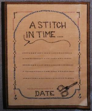 Blue Country Style Border Quilt label. A stitch in time