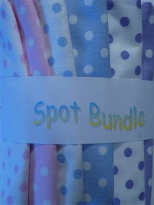 Spot Cotton Fabric Bundle. 6 Fat Quarters