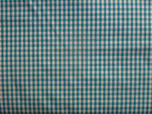 Mid Turquoise Cotton Gingham Fabric