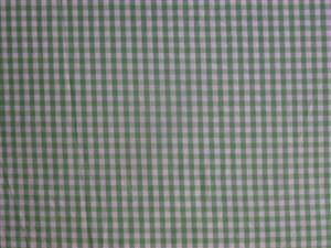 Light Green Cotton Gingham Fabric