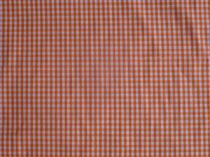 Orange Cotton Gingham Fabric