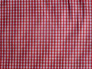 Mid Red Cotton Gingham Fabric