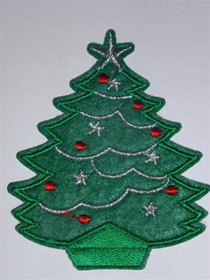 Christmas Tree Embroidered Patch 68 x 80mm