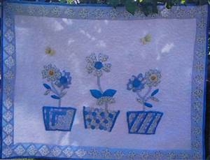 "SALE. 34"" x 26"" Flower Pot Wallhanging Pattern"