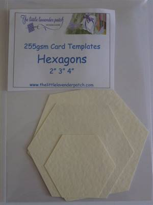 Card Templates- Hexagons