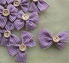 Purple Gingham Bow 1 &6/8th
