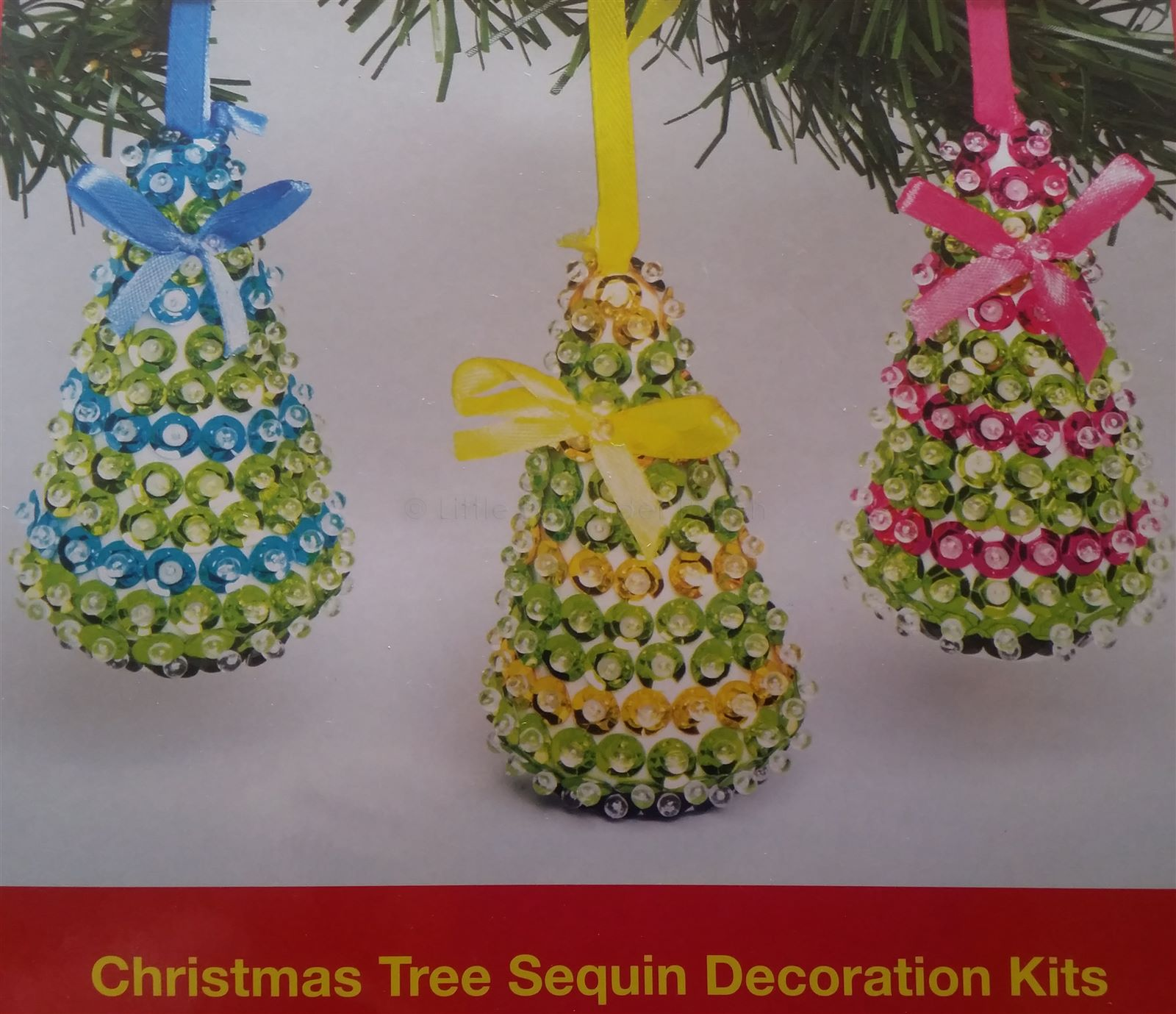 christmas tree sequin decoration kit