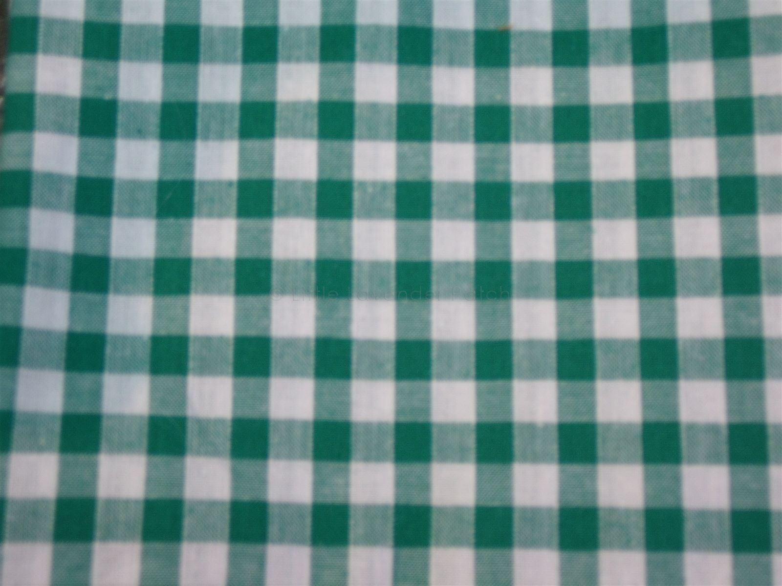 check small. Green Small Check Cotton Gingham Fabric